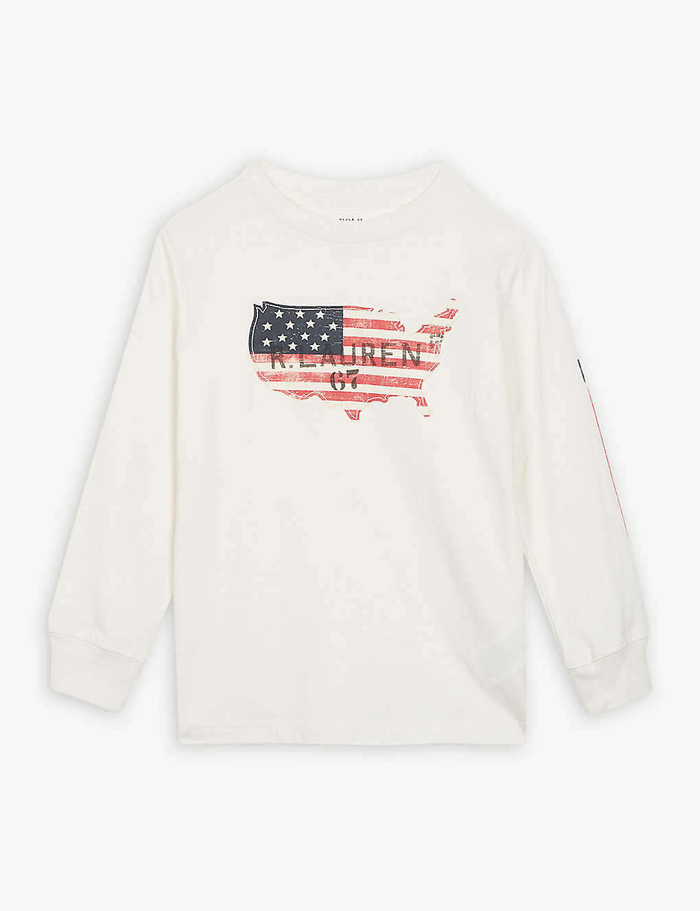 7a55e08883c RALPH LAUREN - Graphic American flag T-shirt 2-7 years
