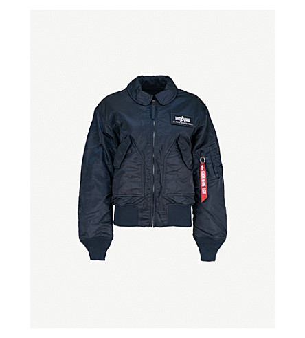 30cc8bd5a38c ... ALPHA INDUSTRIES CWU 45 P shell flight jacket (Rep+blue. PreviousNext