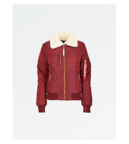 ... ALPHA INDUSTRIES Injector III padded shell bomber jacket (Burgandy.  PreviousNext fdf31d4ca8bf