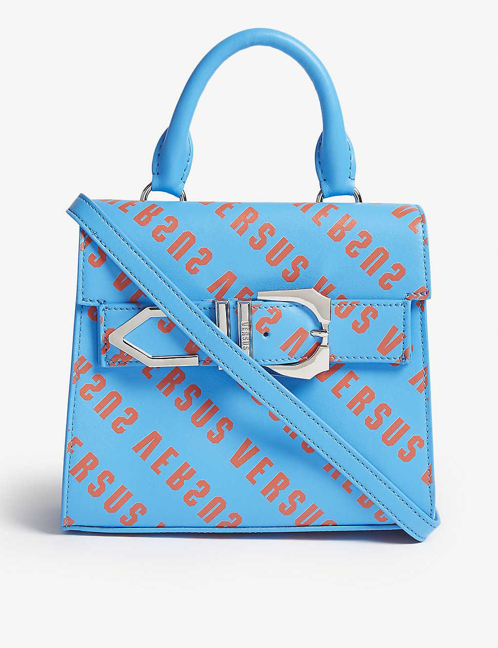 3fc289b9ded7 VERSUS VERSACE - Iconic Buckle logo-print leather bag
