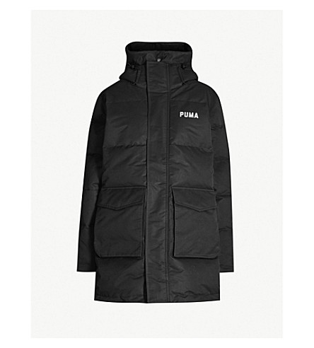 aafd6498fd8e PUMA X OUTLAW MOSCOW - Text-print shell-down puffer coat ...