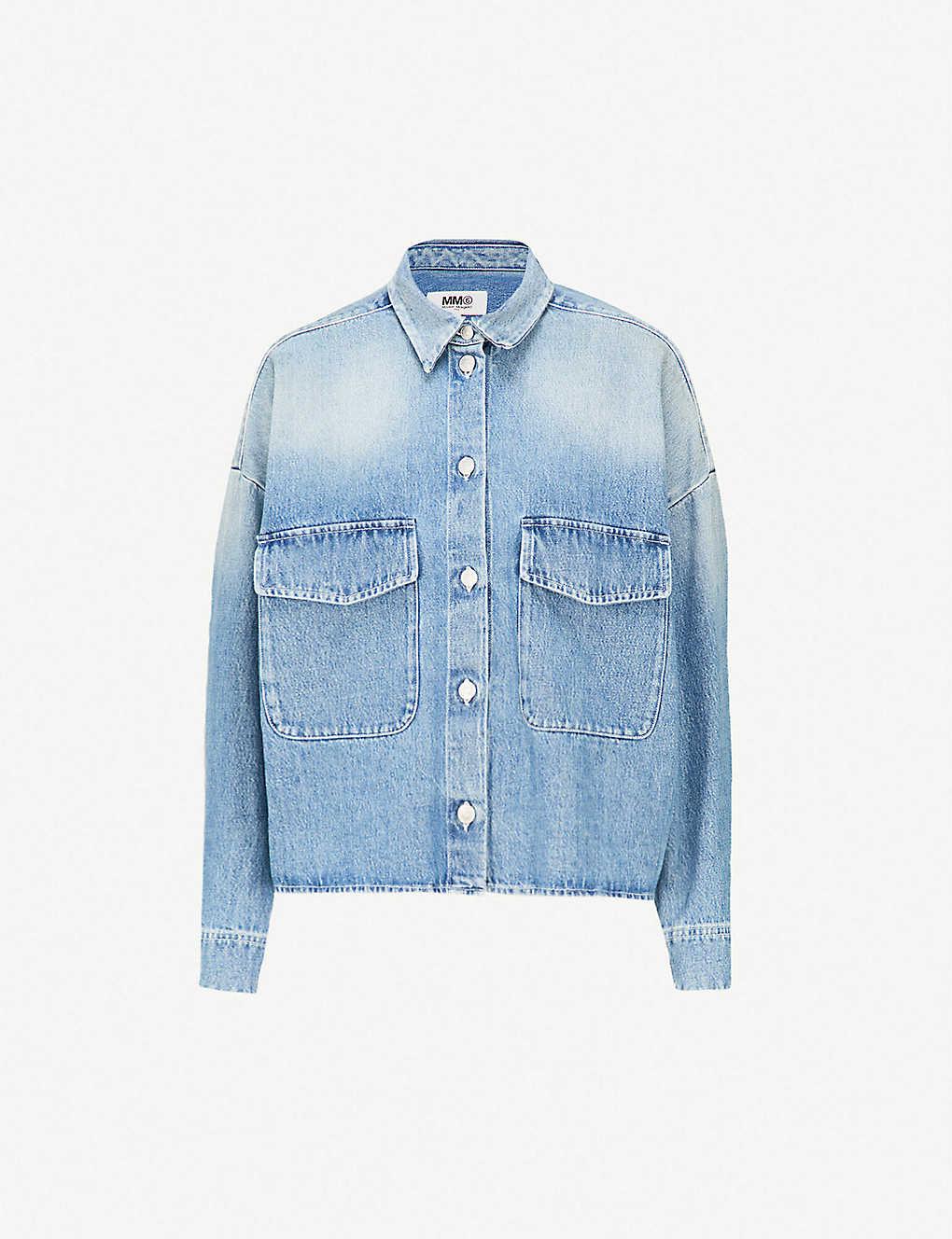 db3be6a1557 MM6 MAISON MARGIELA - Oversized faded denim shirt