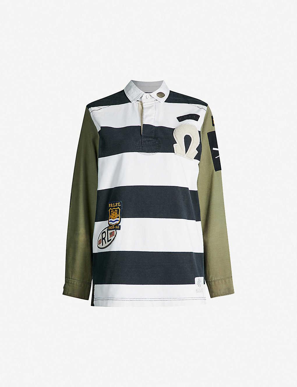POLO RALPH LAUREN - Unisex striped cotton rugby top  ff5e146b8c899
