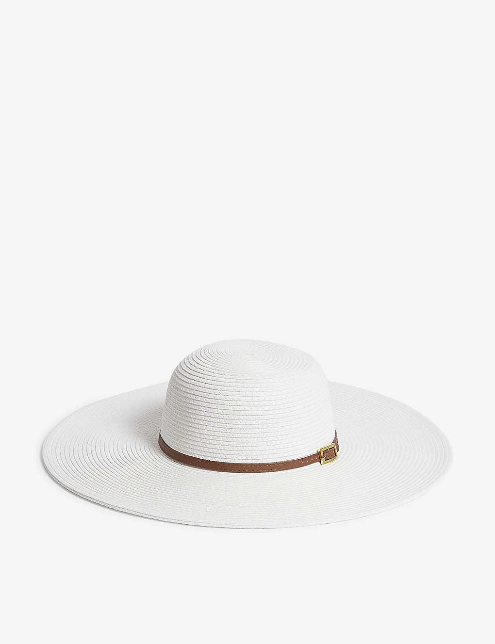 MELISSA ODABASH - Jemina belt-trim woven hat  2c00e6e77db4