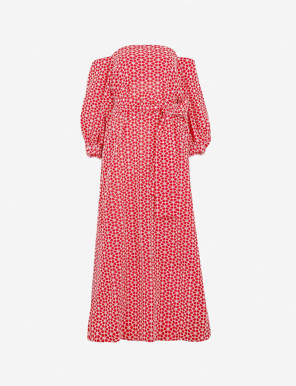 df313c0b0d LISA MARIE FERNANDEZ - Rosie off-the-shoulder floral-embroidered ...