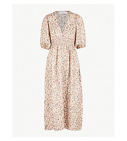 ... ZIMMERMANN Melody leopard-print linen dress (Leopard. PreviousNext 74ca15692