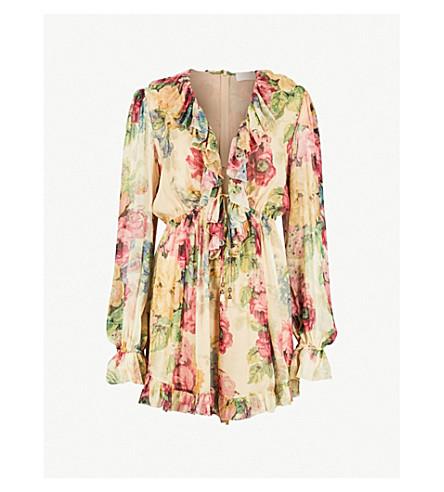 3a4ddccc612 ZIMMERMANN - Melody floral-print silk-georgette playsuit ...