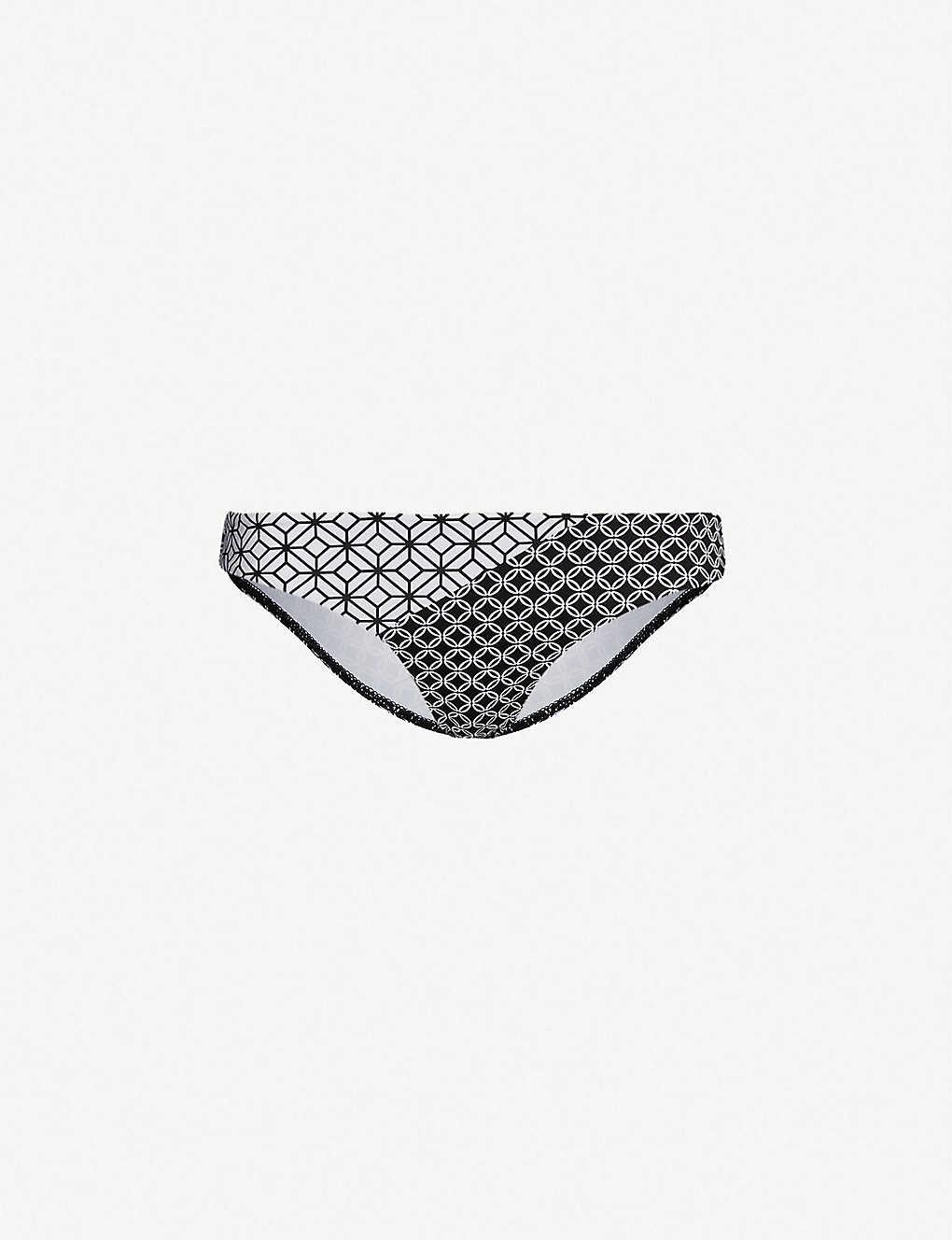 5dcf46e99f JETS BY JESSIKA ALLEN - Contrast geometric-pattern bikini bottoms ...