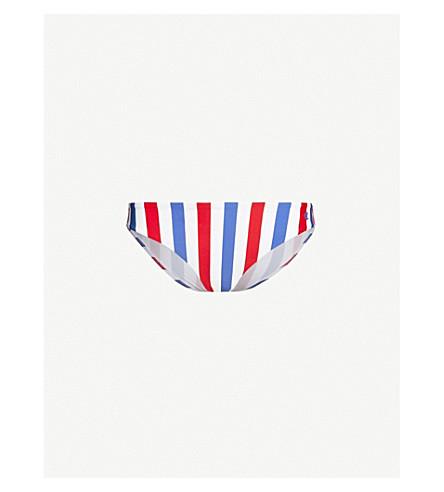 ded9176aa8 ... CHAMPION Logo-print striped mid-rise bikini bottoms (White+blue+red.  PreviousNext