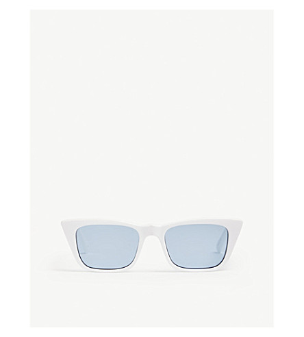 af01d007c0454 ... LE SPECS I Feel Love cat eye-frame sunglasses (Optic white. PreviousNext