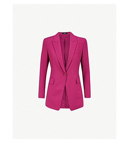 Theory Good Wool Pink Blazer
