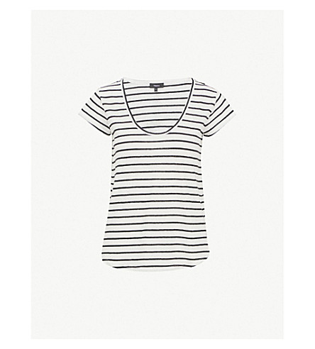 edf1dfb788 THEORY - Striped-pattern linen and cotton-blend top | Selfridges.com