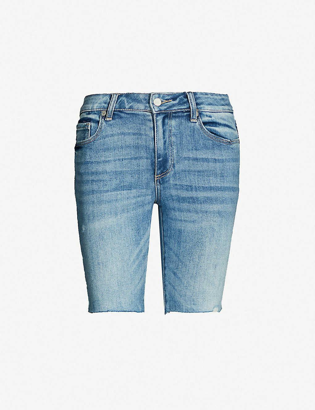 5085e59ca1 PAIGE - Jax faded stretch-denim shorts | Selfridges.com