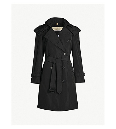 f9b98ce8b625 ... BURBERRY Amberford shell trench coat (Black. PreviousNext