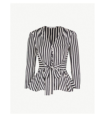 Multi Stripe Tie Waist Top