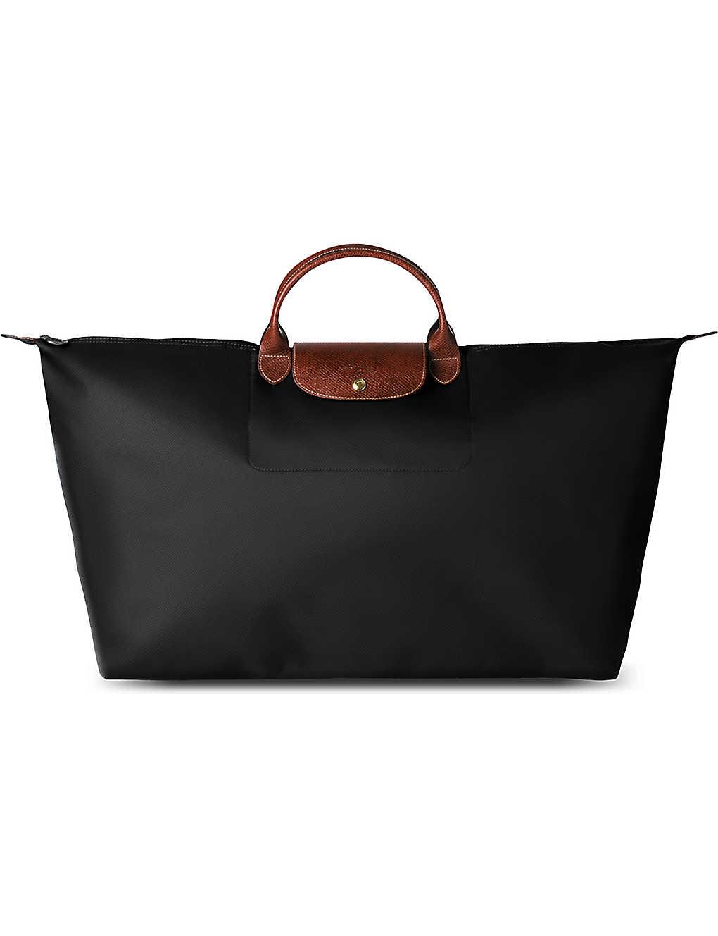 c23018da73c3 LONGCHAMP - Le Pliage large travel bag in black