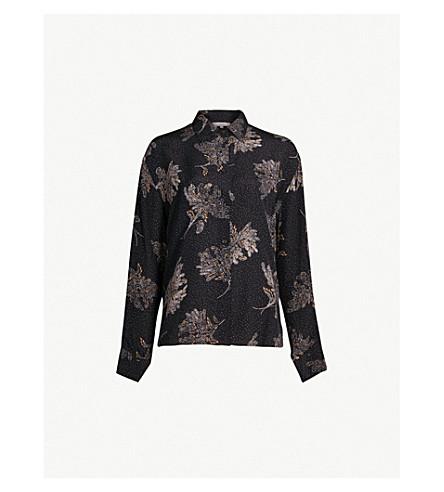 ea1cebea92085 ... VINCE Floral-print silk-crepe shirt (Coastal. PreviousNext