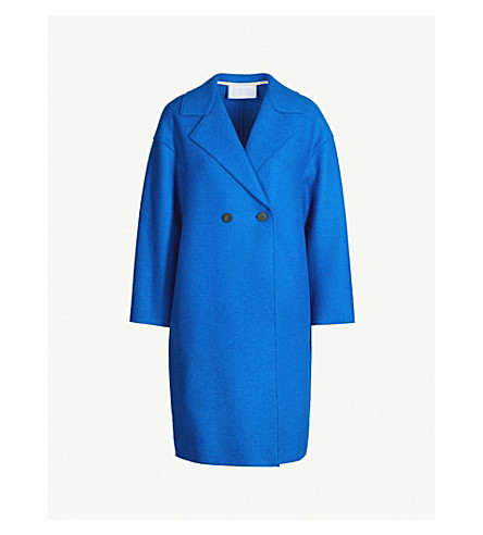 Double Breasted Pressed Wool Coat by Harris Wharf London