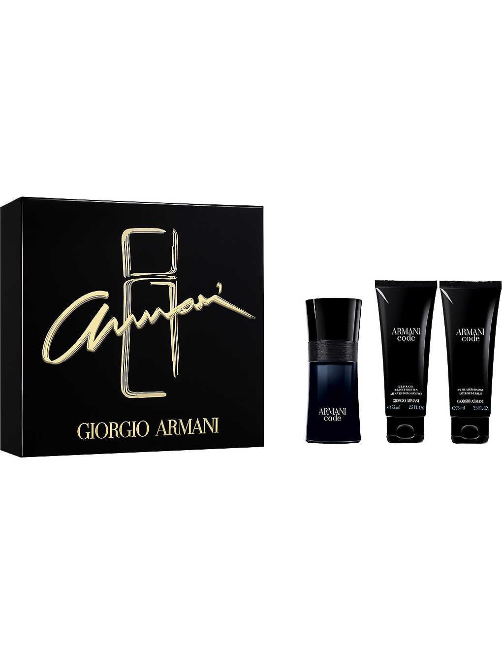 Giorgio Armani Code Eau De Toilette Gift Set Selfridges Com