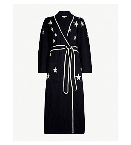 f795f2024c ... CHINTI AND PARKER Star-intarsia cashmere dressing gown (Navy+cream.  PreviousNext