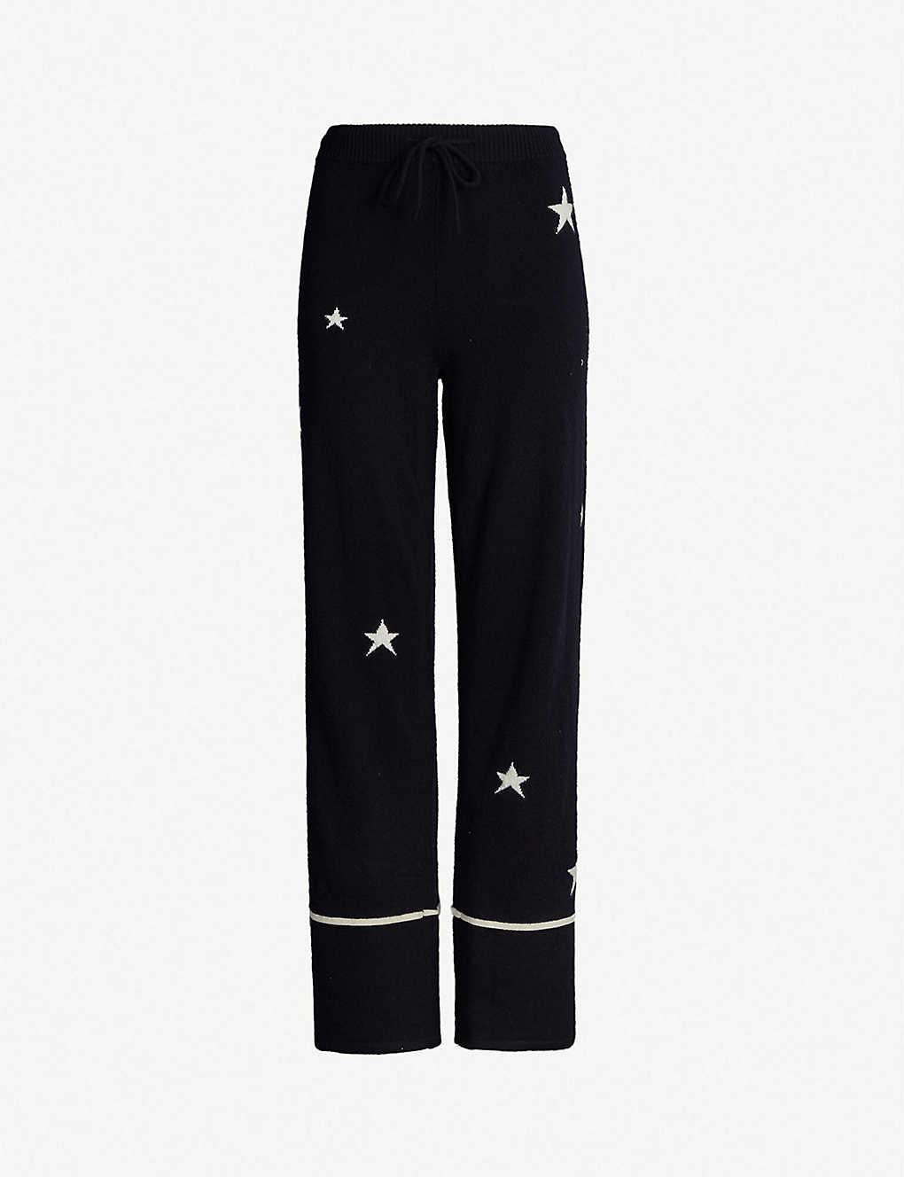 4de4fec64725 CHINTI AND PARKER - Star-intarsia cashmere pyjama bottoms ...