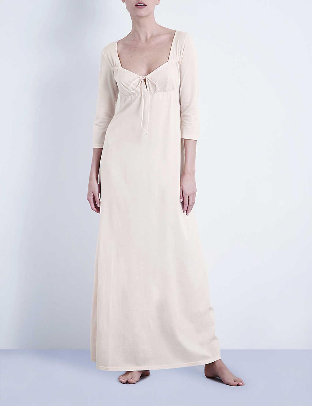 BODAS - Long cotton-jersey nightdress  d38ba09942c9