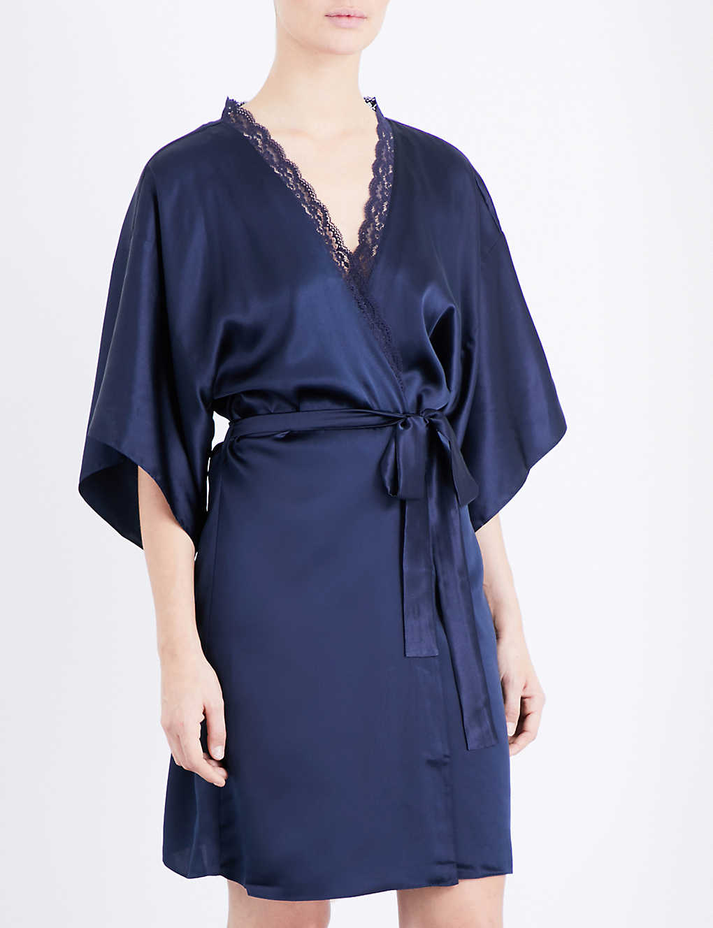 STELLA MCCARTNEY - Clara Whispering silk dressing gown  765760611