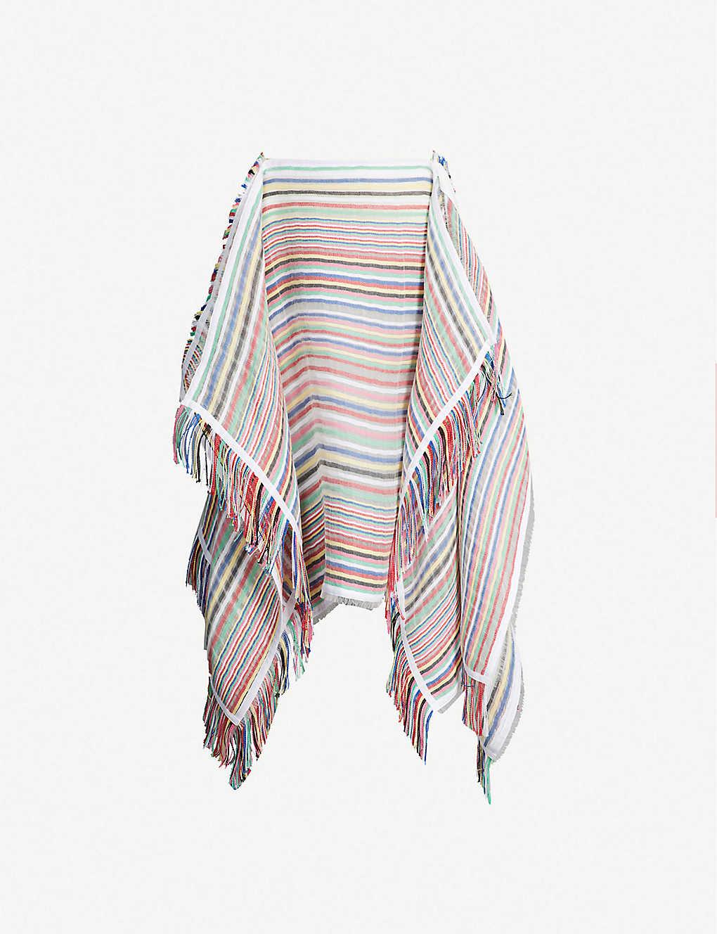 bc1b62765da JW ANDERSON - Striped handkerchief cotton-blend midi skirt ...