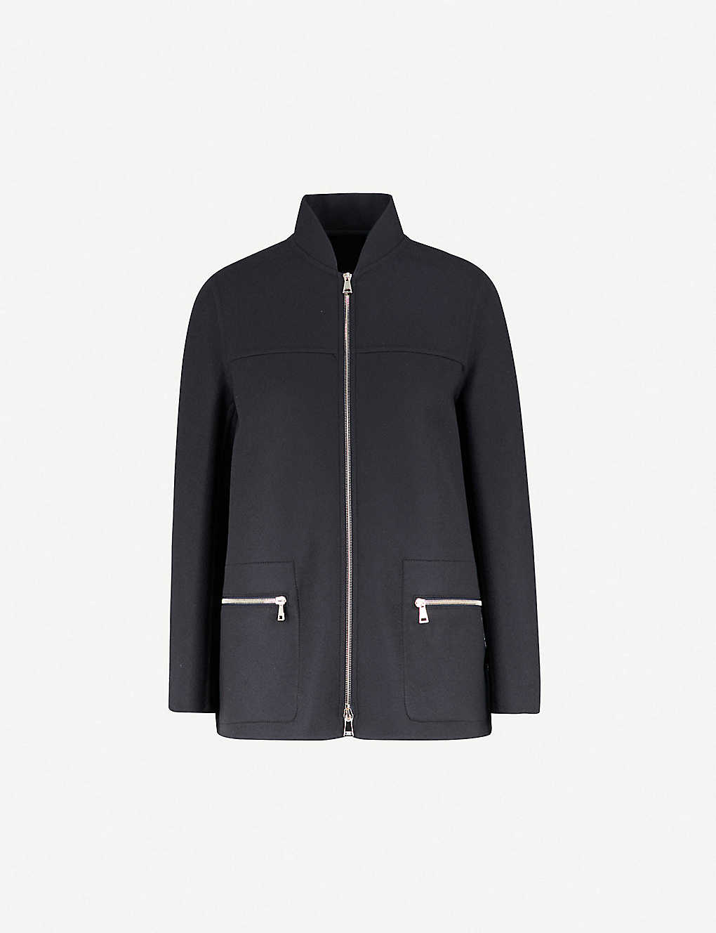 93db5f39e MONCLER - Anatase wool and cashmere-blend coat