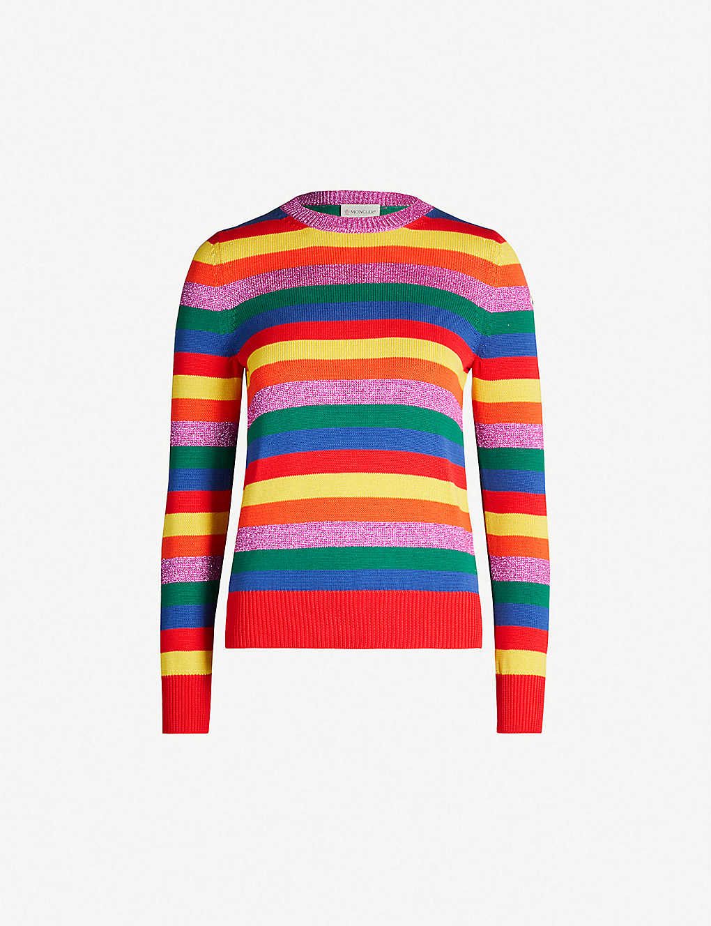 f294f0676 MONCLER - Striped lurex and cotton-knit jumper