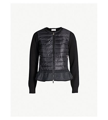 c5f4e500269f MONCLER - Flounce flared-hem cotton knit-panelled shell-down jacket ...