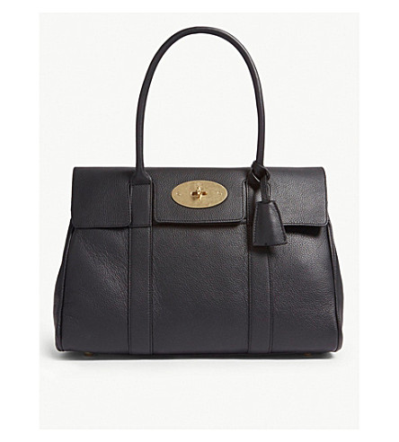 83c4dff6bcba ... MULBERRY Bayswater leather bag (Black+brass. PreviousNext