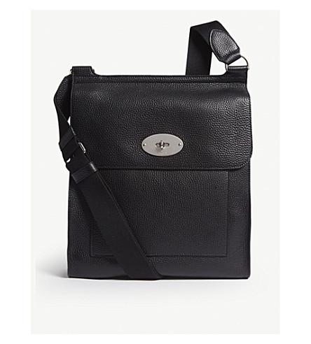 ... MULBERRY Antony large grained leather messenger (Black. PreviousNext f7987b6ae9405