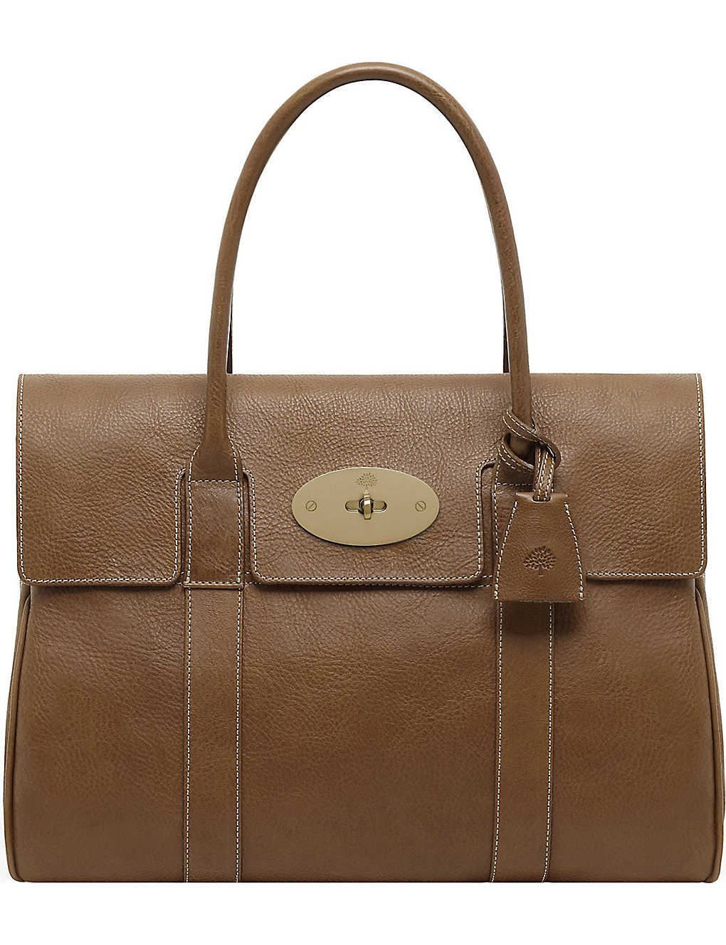 MULBERRY - Bayswater grained-leather tote  d4cde0882d7f1