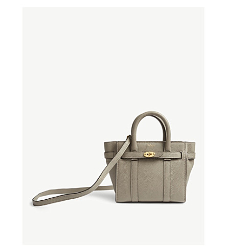36e558093d09 ... MULBERRY Bayswater micro grained leather bag (Solid+grey. PreviousNext