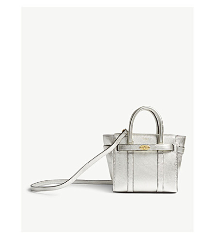 283931cc3a07 ... MULBERRY Bayswater micro metallic leather bag (Light+silver.  PreviousNext