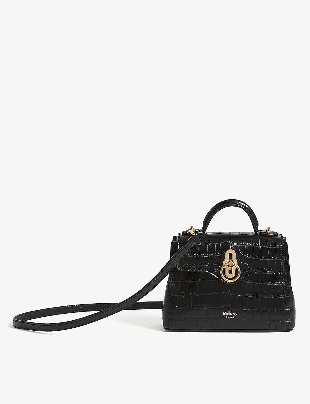 c142e6344014 MULBERRY - Micro Seaton croc-embossed leather shoulder bag ...