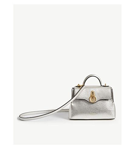 e2310762f226 ... MULBERRY Micro Seaton metallic leather shoulder bag (Light+silver.  PreviousNext