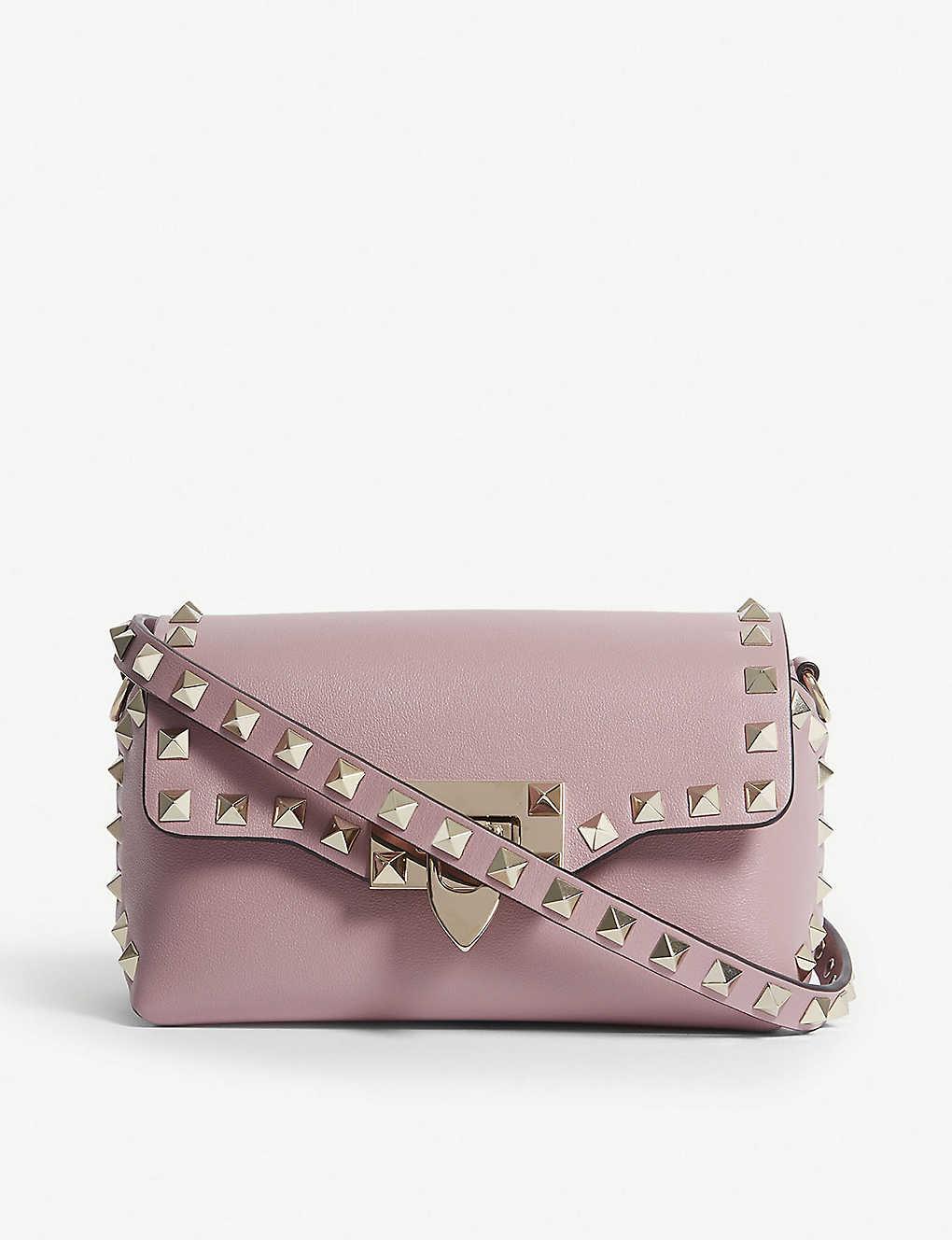 05056945d56f VALENTINO - Rockstud leather cross-body bag