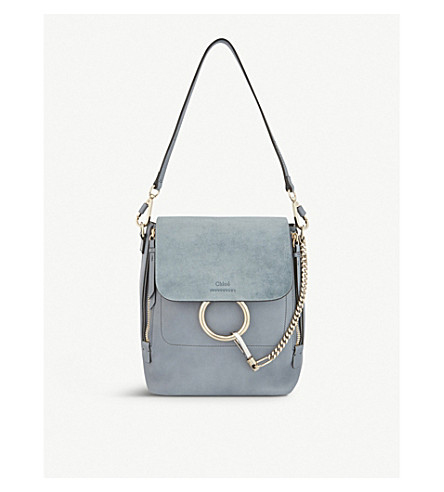 a806e1608d ... CHLOE Faye small leather backpack (Cloudy+blue. PreviousNext