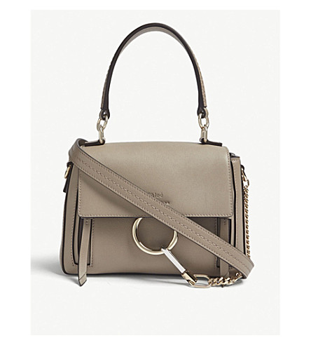 fe92836a10ff ... CHLOE Faye Day mini leather shoulder bag (Motty+grey. PreviousNext