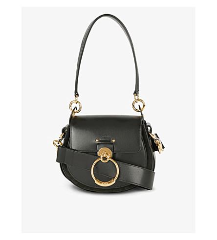 CHLOE - Tess leather and suede cross-body bag  b1eaaaa8dbb8b