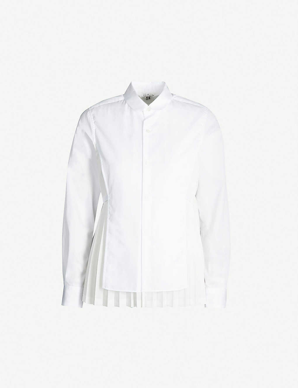 dfdd29ad877d5 NOIR KEI NINOMIYA - Pleated back cotton shirt | Selfridges.com