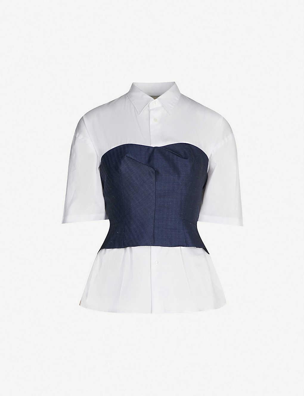 218f789d980 JUNYA WATANABE - Corset cotton shirt