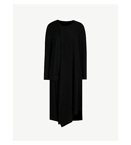 0ab7c0cd0ac ... YS Asymmetric satin and wool dress (Black. PreviousNext