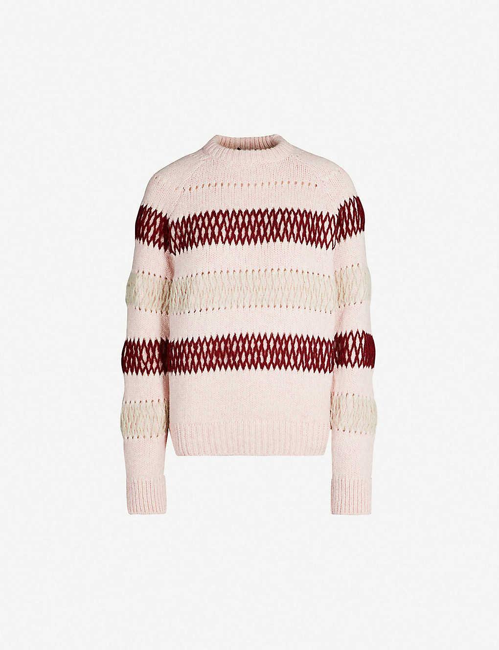 CALVIN KLEIN 205W39NYC - Striped chunky-knit wool jumper ... 08099e440