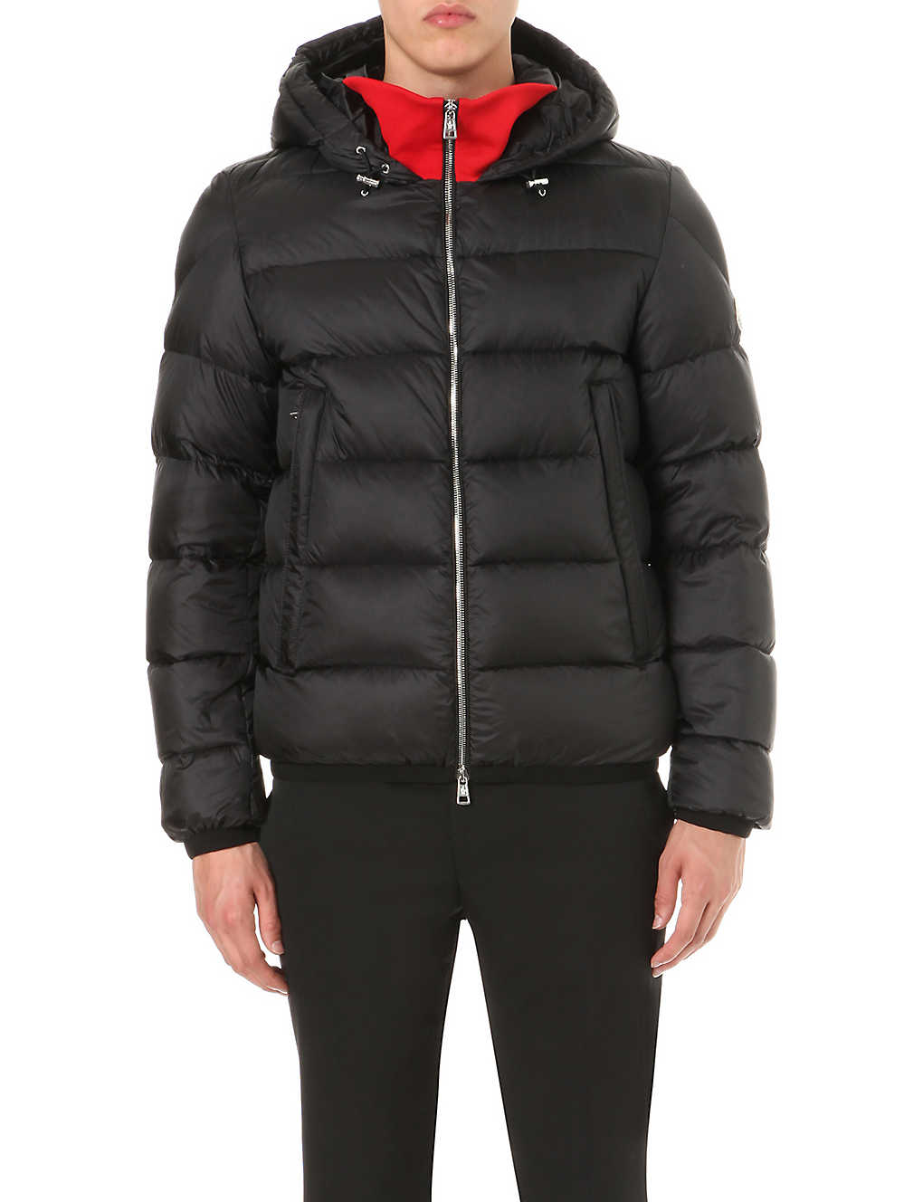 0548ea616 MONCLER - Contrast-panel quilted nylon jacket