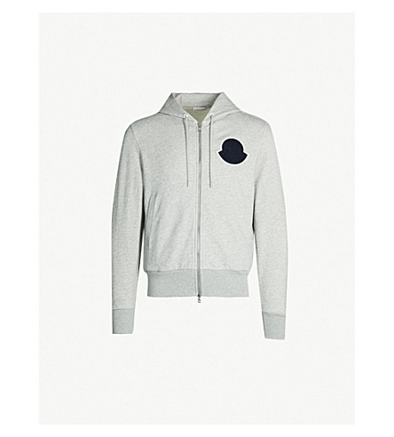 d121563465f6 MONCLER - Logo-patch cotton-jersey hoody