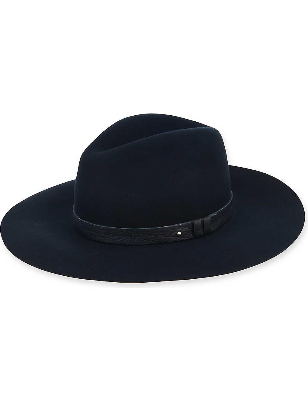 RAG   BONE - Wide brim fedora hat  39a0946b94d