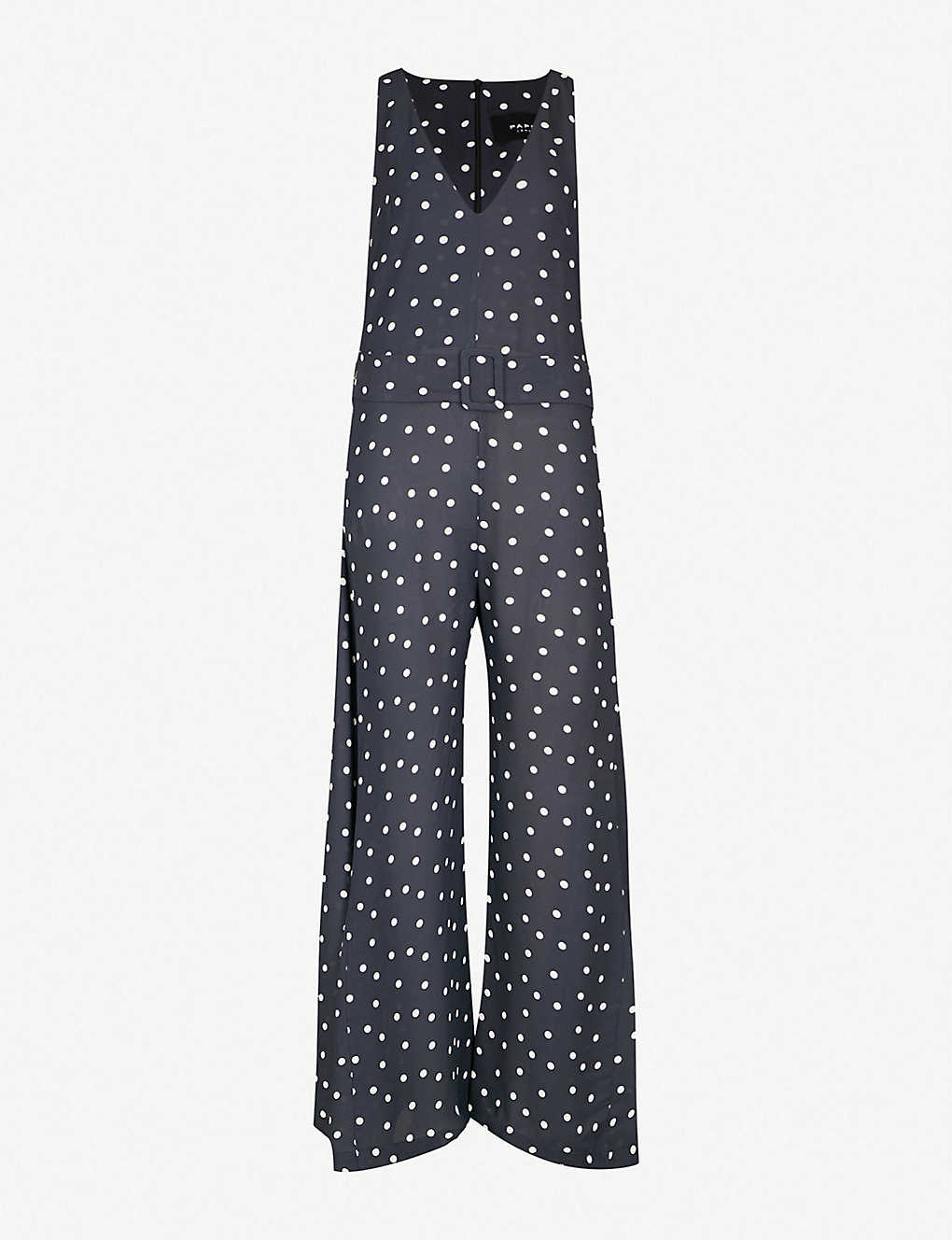 851641a2057 PAPER LONDON - Bento wide-leg polka dot-print crepe jumpsuit ...